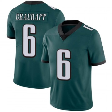 Men's River Cracraft Philadelphia Eagles Limited Green Midnight Team Color Vapor Untouchable Jersey
