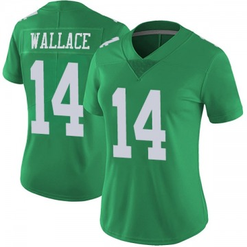 Women's Mike Wallace Philadelphia Eagles Limited Green Vapor Untouchable Jersey
