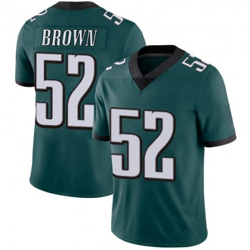 Youth Zach Brown Philadelphia Eagles Limited Green Midnight Team Color Vapor Untouchable Jersey